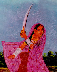 The brave Rani of Nagaka Village