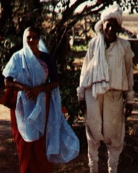 Maher man and woman in their traditional clothes