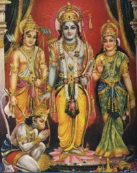 Ram, Sita, Laxman and Hanuman